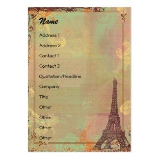 Perfil/economias do estilo do vintage da torre cartão de visita grande