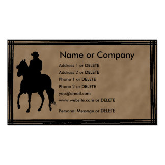 Perfil pessoal da silhueta do cavaleiro de Paso Fi Cartoes De Visita
