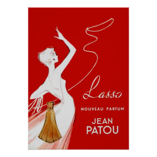 Perfume do vintage que anuncia o poster francês