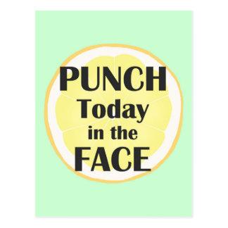 Perfurador hoje no cartão da cara inspirado