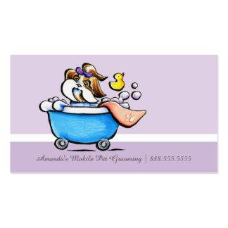 Perfurador roxo móvel da lealdade de Shih Tzu do Cartão De Visita