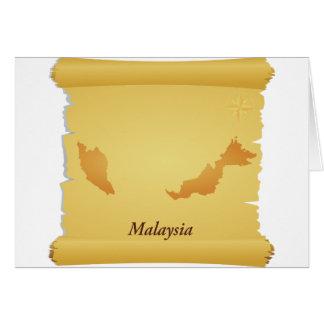 Pergaminho de cartões de Malaysia