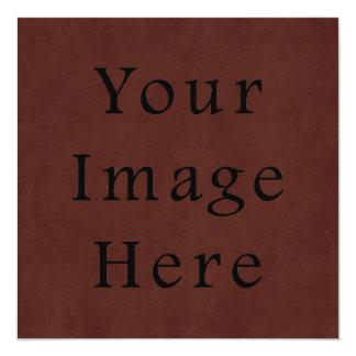 Pergaminho de couro de mogno Tanned vintage de Convite Personalizado