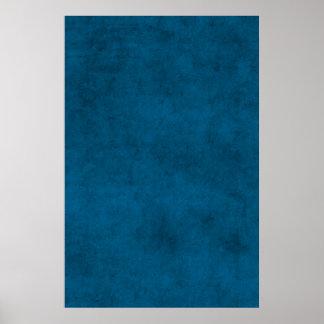 Pergaminho de papel azul escuro do vintage poster