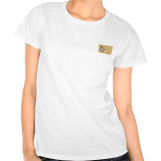 Pergaminho e compasso antigos camiseta