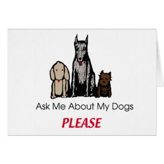 Pergunte-me sobre meu cartão dos cães