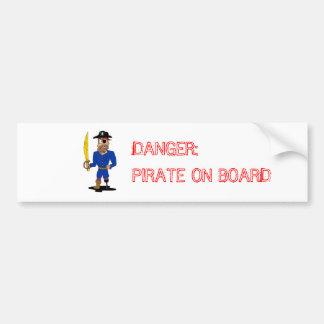 Perigo: Autocolante no vidro traseiro do pirata a Adesivo De Para-choque