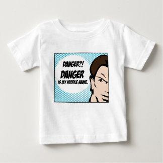 Perigo?! Camiseta Para Bebê