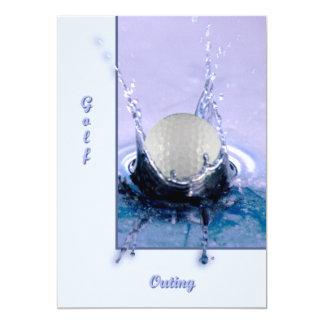 Perigo da água convite 12.7 x 17.78cm
