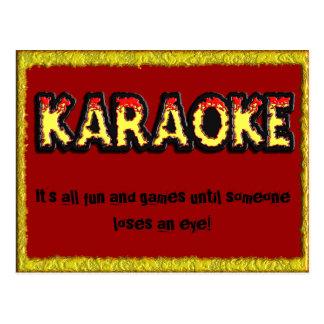 Perigo do karaoke - cartão