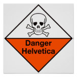 Perigo: Poster Helvética