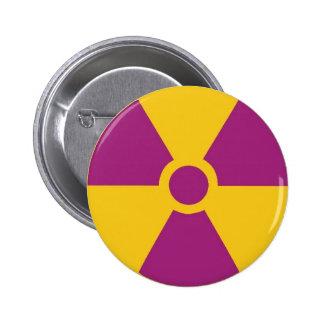 Perigo radioativo bóton redondo 5.08cm