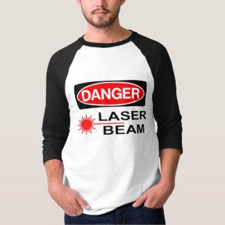 Perigo, raio laser camiseta