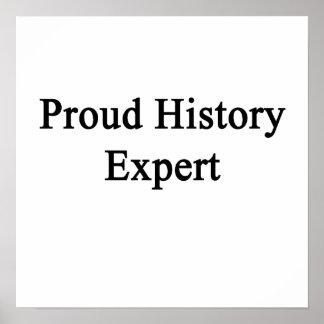 Perito da história orgulhosa impressão