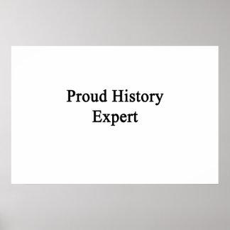Perito da história orgulhosa posters