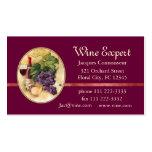 Perito do vinho modelo cartoes de visita