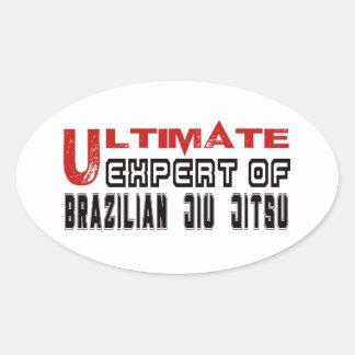 Perito final do brasileiro Jiu Jitsu. Adesivo Oval