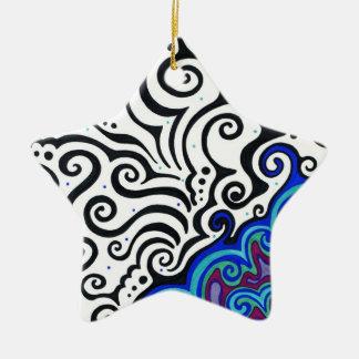 Permafrost Ornamento De Cerâmica Estrela