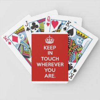 Permaneça em contacto jogos de baralho