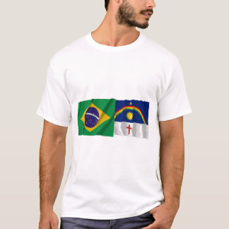 Pernambuco & bandeiras de ondulação de Brasil Camiseta