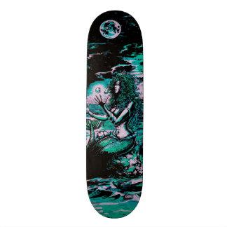 Pérola do mar da sereia skates personalizados