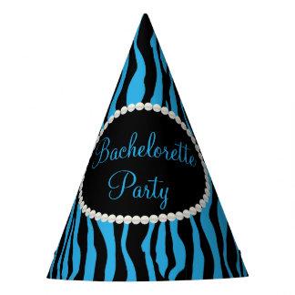 Pérolas azuis do impressão da zebra, chapéus da