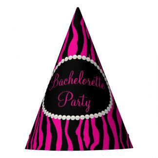 Pérolas cor-de-rosa do impressão da zebra, chapéus