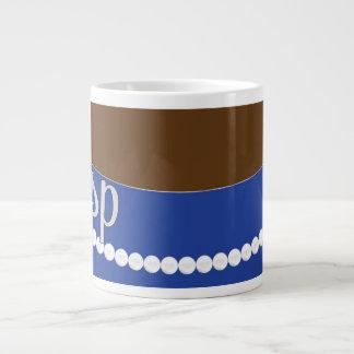 Pérolas da embreagem e caneca azuis do jumbo da jumbo mug