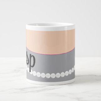 Pérolas da embreagem e caneca cinzentas do jumbo jumbo mug