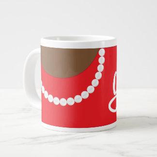 Pérolas da embreagem e caneca vermelhas do jumbo jumbo mug