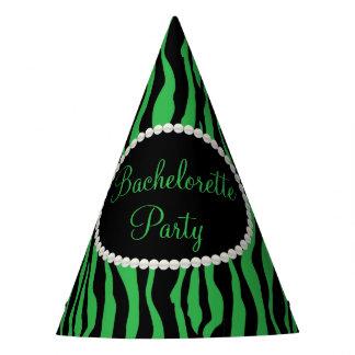Pérolas verdes do impressão da zebra, chapéus da