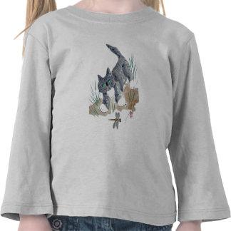 Perseguição da libélula pelo gatinho camisetas