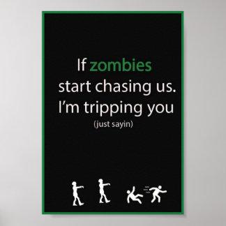 Perseguição do zombi pôster