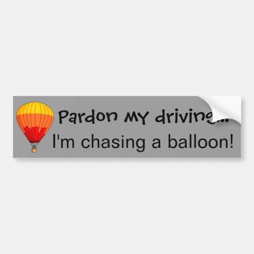 Perseguindo um balão adesivo