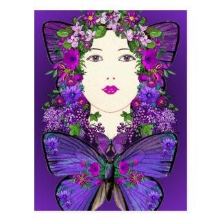 Persephone e cartão da borboleta