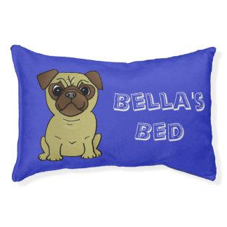 Persiga a cama para o Pug em sua vida! Personalize
