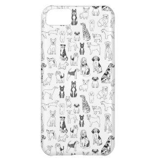 Persiga a ilustração da mão/Andrea brancas pretas Capa Para iPhone 5C