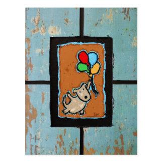 persiga com cartão dos balões cartão postal