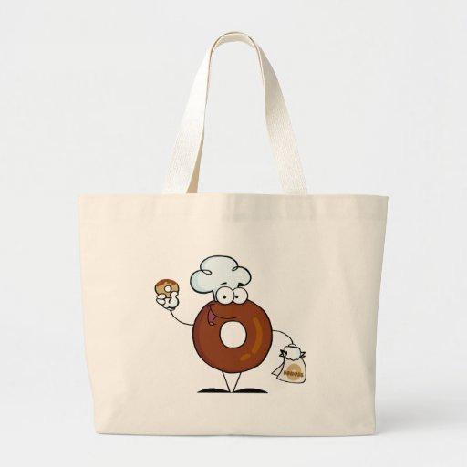Personagem de desenho animado amigável da rosquinh bolsas