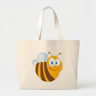 Personagem de desenho animado bonito da abelha bolsa para compras