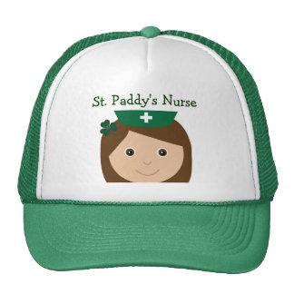Personagem de desenho animado bonito da enfermeira bonés