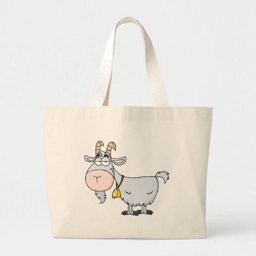 Personagem de desenho animado da cabra bolsa para compras