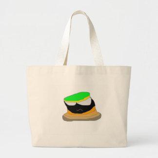 Personagem de desenho animado da história em quadr sacola tote jumbo