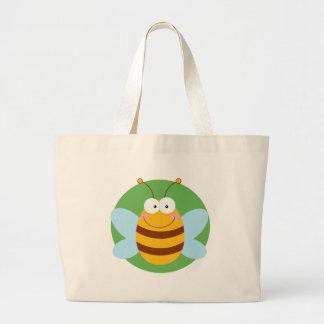 Personagem de desenho animado da mascote da abelha bolsa para compra