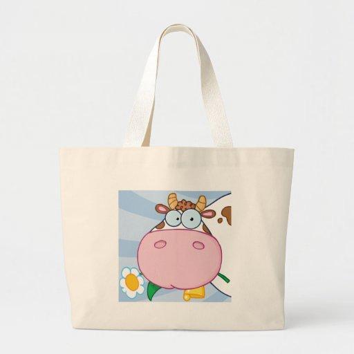 Personagem de desenho animado da vaca bolsa