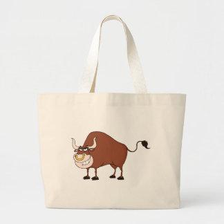 Personagem de desenho animado de Bull Bolsa Para Compras