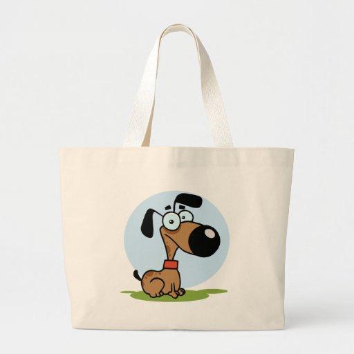 Personagem de desenho animado do cão bolsa de lona