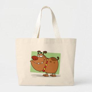 Personagem de desenho animado do cão de Brown Bolsa Para Compra