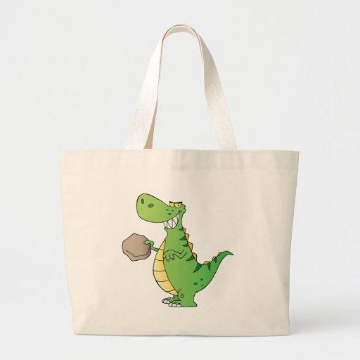 Personagem de desenho animado do dinossauro bolsas para compras