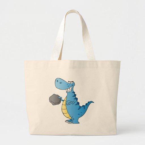 Personagem de desenho animado do dinossauro bolsa para compras